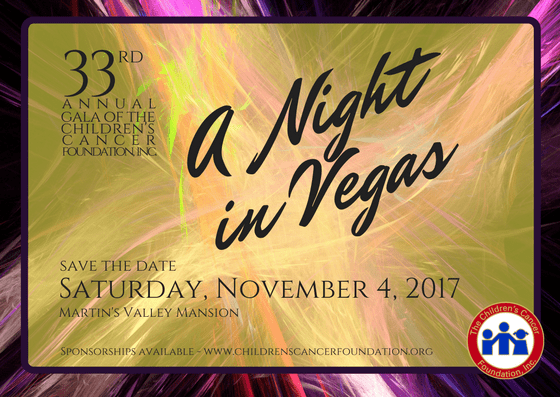 A Night in Vegas 33rd Gala of the Children's Cancer Foundation
