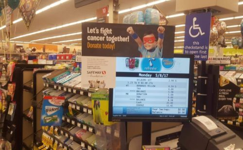 SAFEWAY Check-out Display from 2017