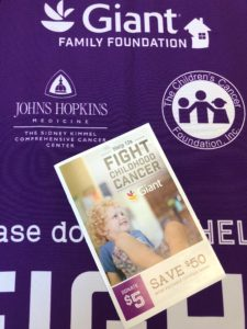 Giant Food Pediatric Cancer Campaign Coupon Booklet